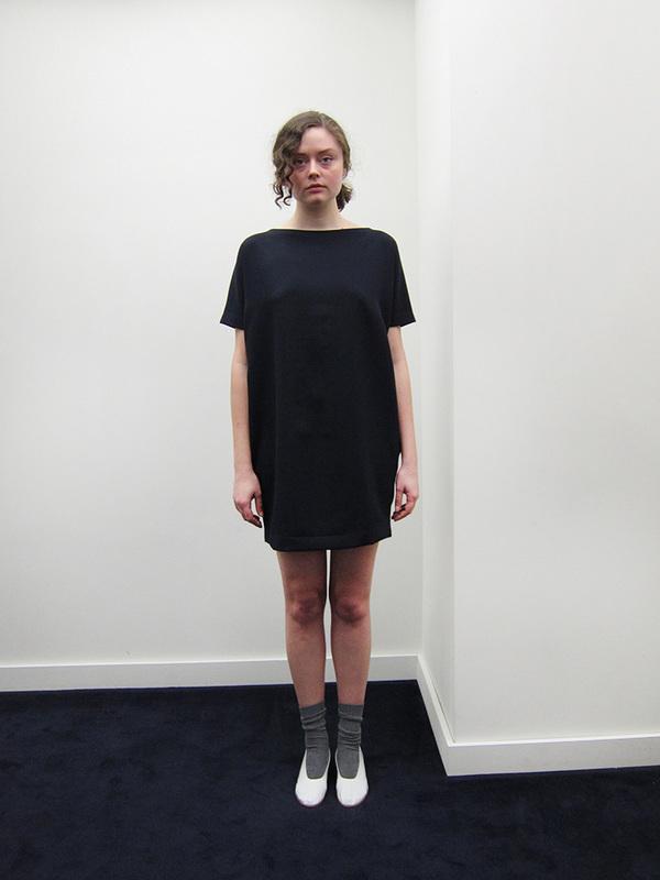 KAAREM Angle Mini Dolman Open Back Dress | Blue/Black