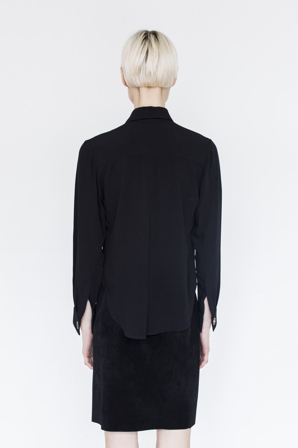 Assembly Crepe Butterfly Collar Top
