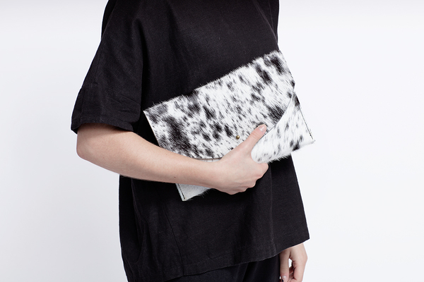 Primecut SALT + PEPPER ENVELOPE CLUTCH