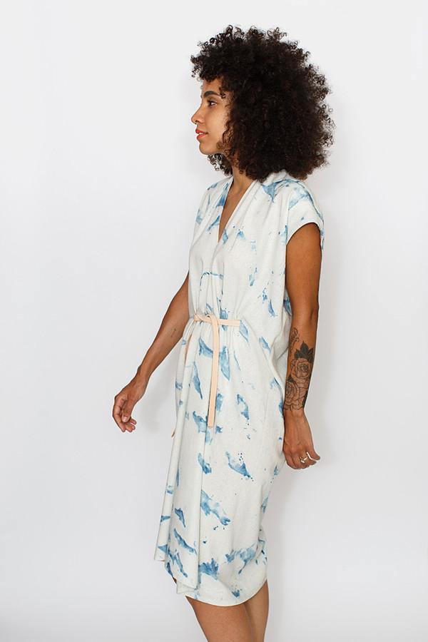 Miranda Bennett Studio Tempest Dress Indigo Arashi