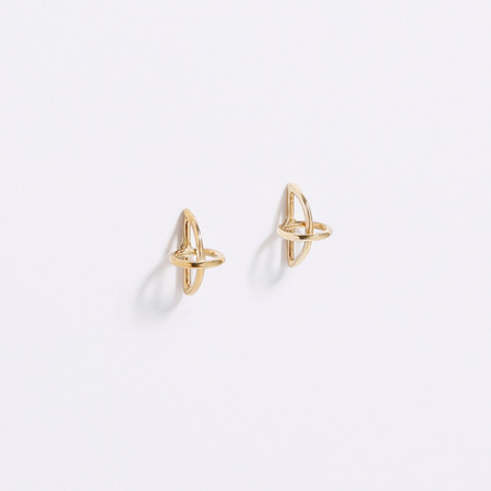 Metalepsis Projects Float Earrings Brass