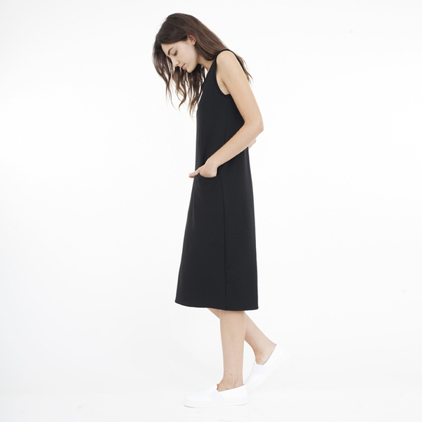 Corinne Pocket dress - black