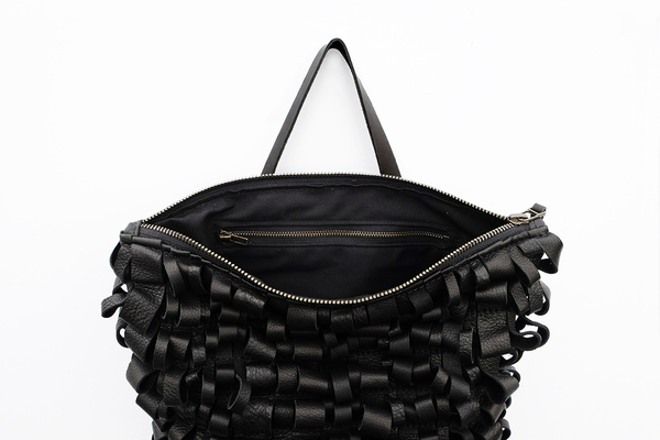Primecut BLACK LEATHER LOOP BACKPACK