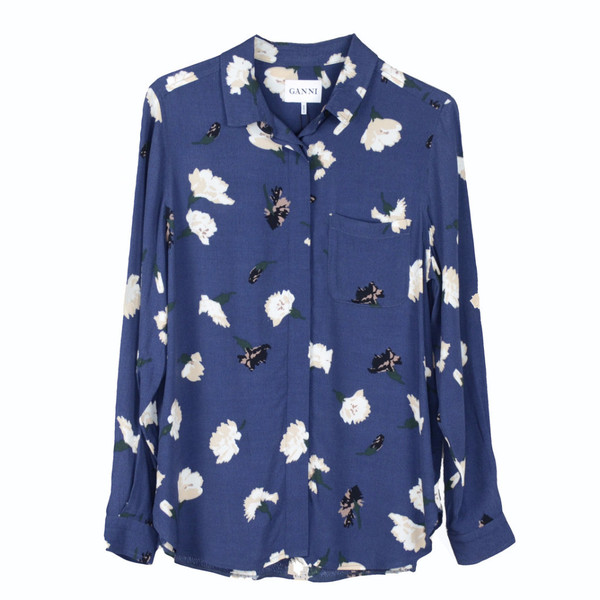 Ganni Jones Crepe Shirt