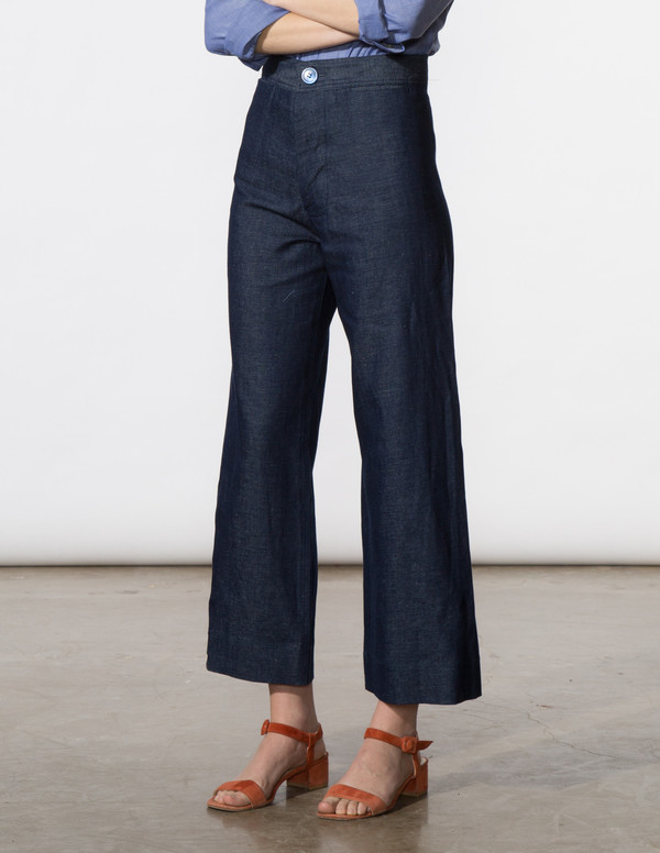 SBJ Austin Angela Pant in Chambray