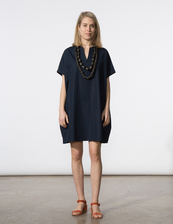 SBJ Austin Mary Dress in Navy