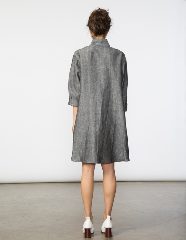 SBJ Austin Stacey Dress in Dark Grey