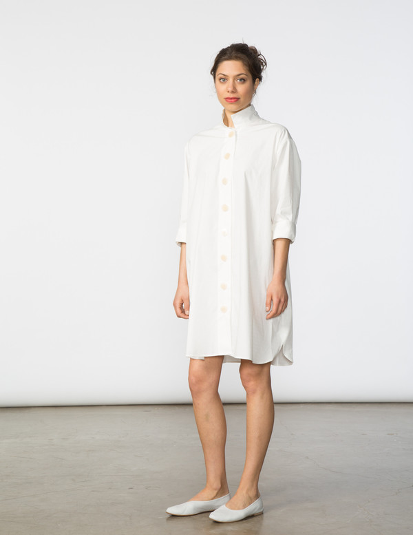 SBJ Austin Stacey Dress in White Window