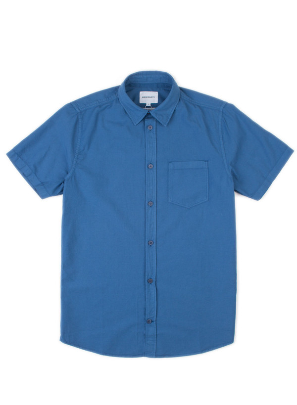 Anton Light Oxford Overdyed SS Botanical Blue
