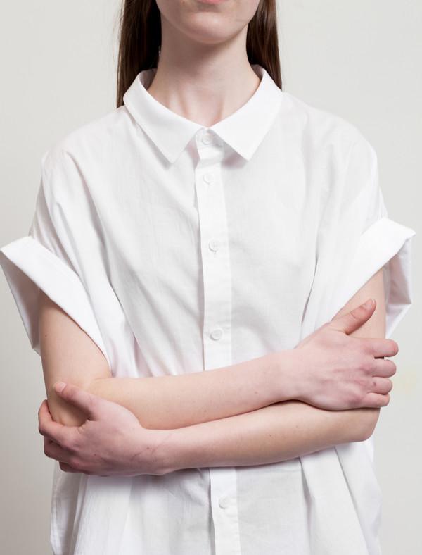 Ys by Yohji Yamamoto Mini Sleeve Shirt White