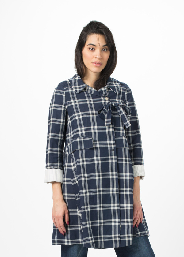 Pero Plaid Tie Coat