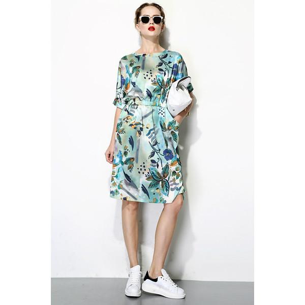 FEW MODA TROPICAL PRINT DRESS