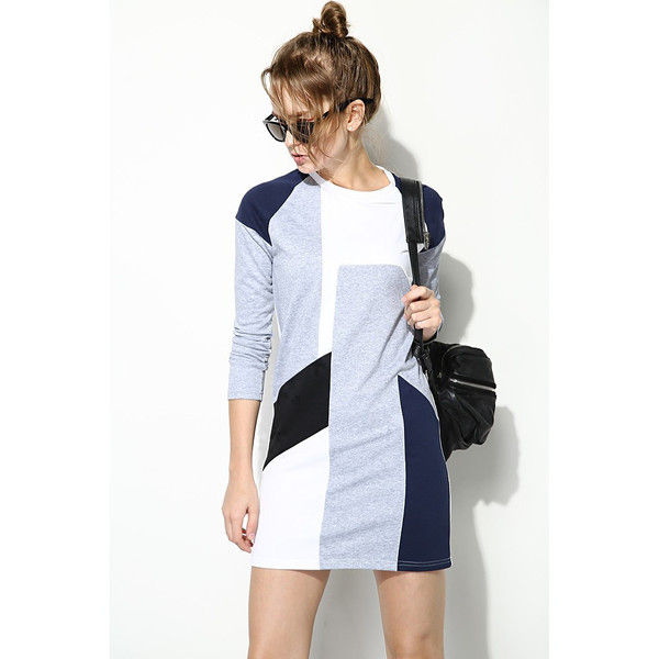 FEW MODA Fall Geometric Prints Dress
