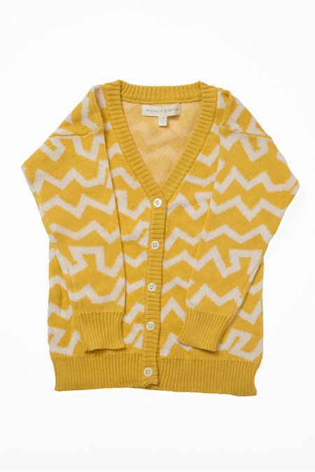 Kids' Micaela Greg Yellow Wiggle Cardigan