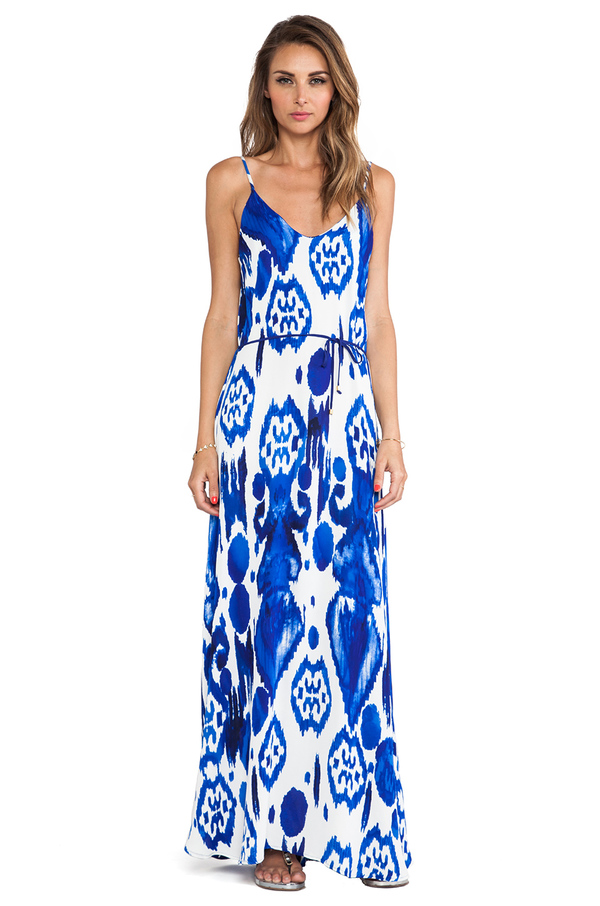 Karina Grimaldi Calico Maxi Dress