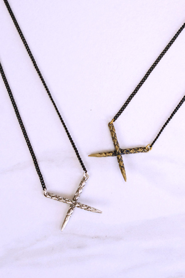 K/LLER COLLECTION Rope Cross Pendant