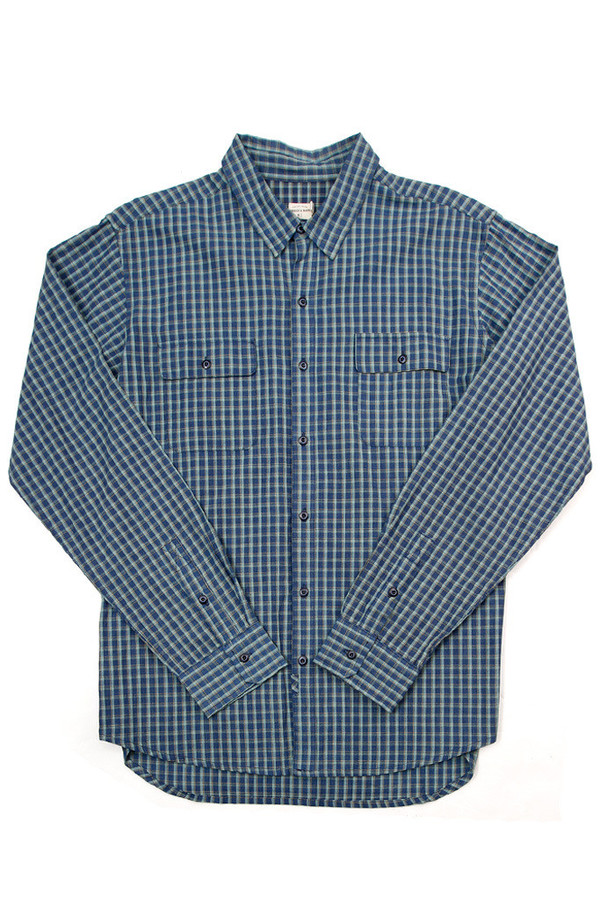 Men's Bridge & Burn Franklin Indigo Green Plaid