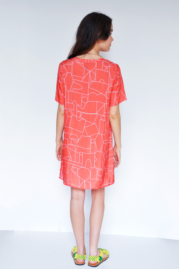 Dusen Dusen Blockhead Red Tee Dress