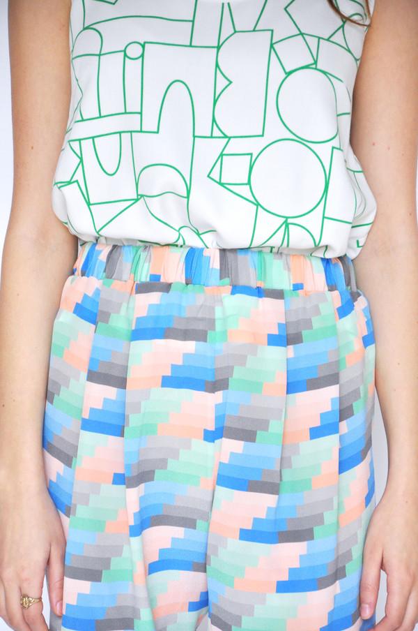 Dusen Dusen Gradient Stripe Elastic Waist Shorts