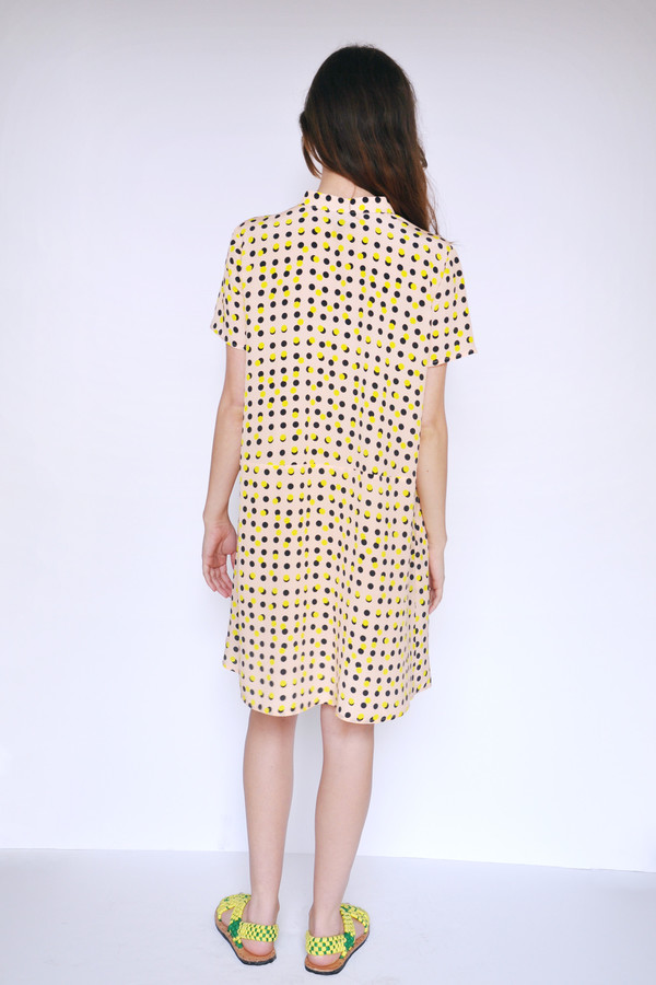 Dusen Dusen Peach Double Dot Oversize Tee Dress