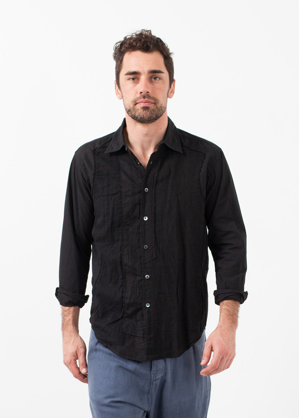 Men's Sage de Cret Block Button Up