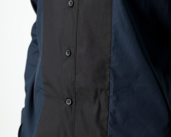 Men's Mauro Grifoni Camicia Classic Shirt in Navy