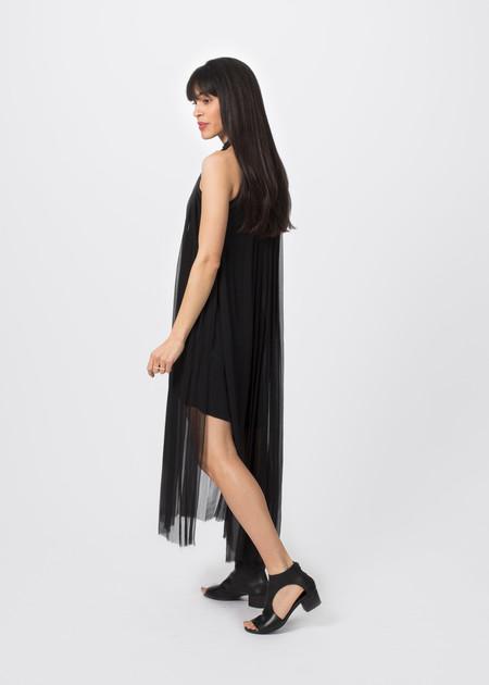Louiza Babouryan Chiffon Column Dress