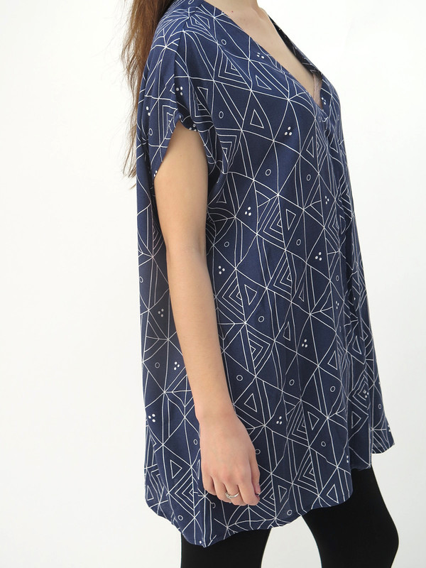 Ali Golden Button Down Tunic