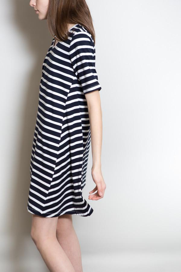 Kowtow Building Block Swing Dress - Stripe