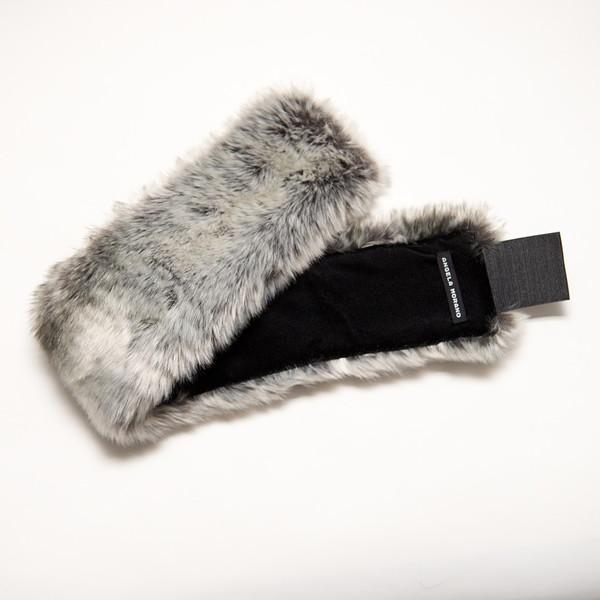 Silver Ombre Faux Fur Headband