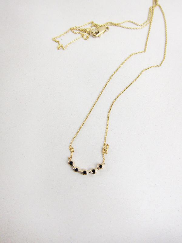 Quarry Cas Necklace, Black Diamond