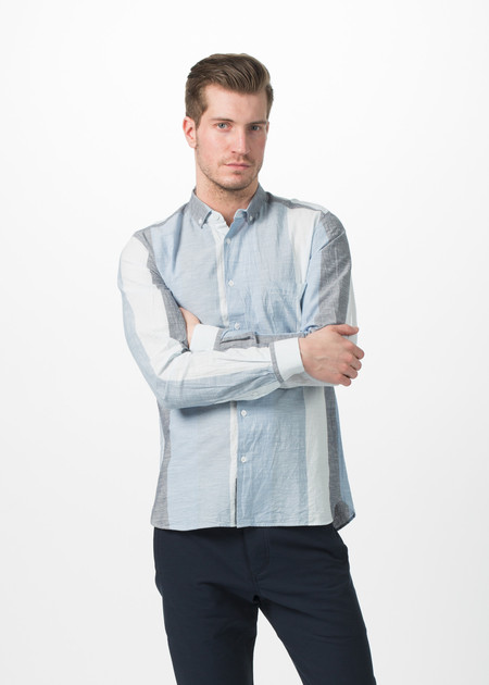 Men's You Must Create Wide Stripe Button Down Shirt