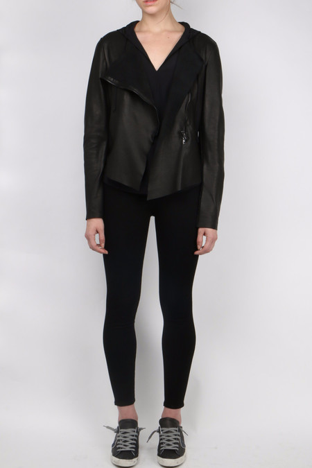Salvatore Santoro Black Zip Up Leather Jacket
