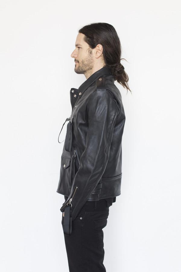 Matthew Miller Leather Tyler Biker Jacket