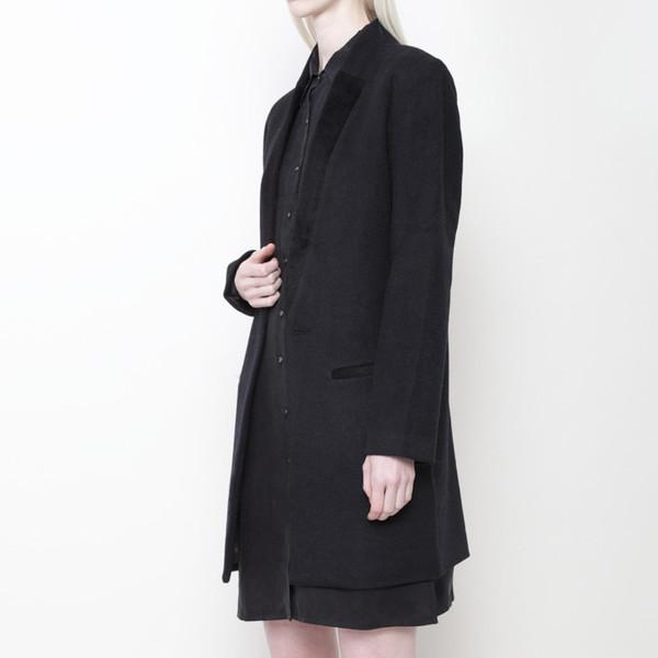 7115 by Szeki Long Wool Blazer FW15 - Charcoal