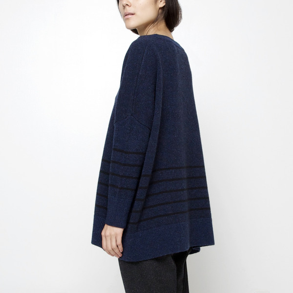 7115 by Szeki Oversized Striped Sweater
