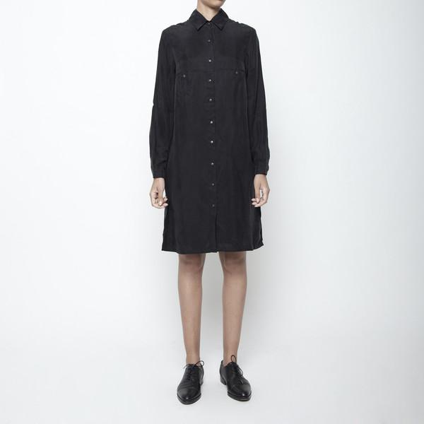 7115 by Szeki Pockets Shirtdress