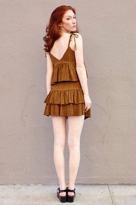 Sam & Lavi Iris Earth Stripe Skirt