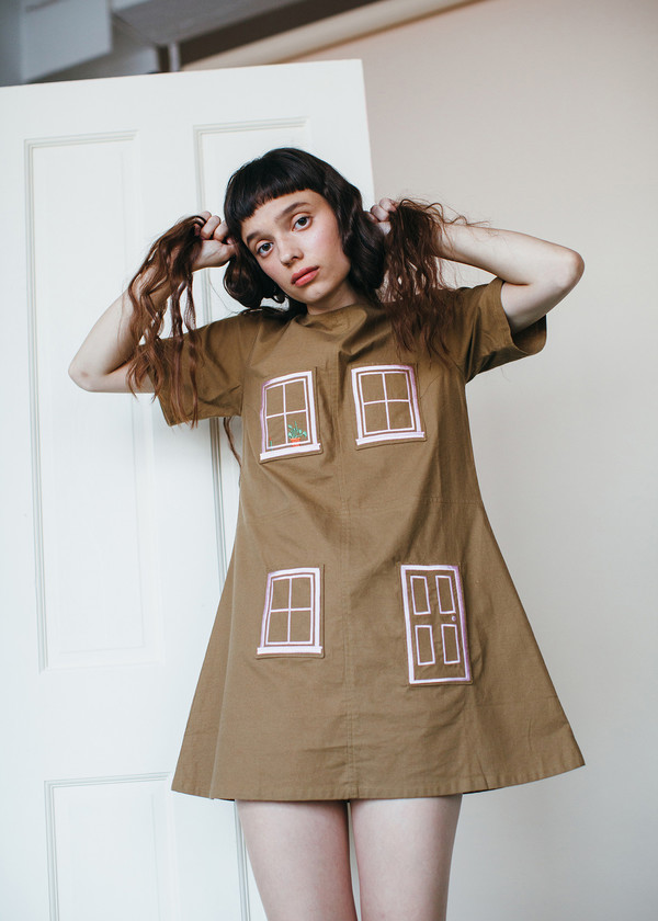 Samantha Pleet House Dress - Brown