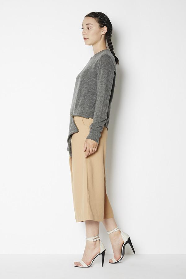 Shades of Grey Asymmetric Zipper Sweater