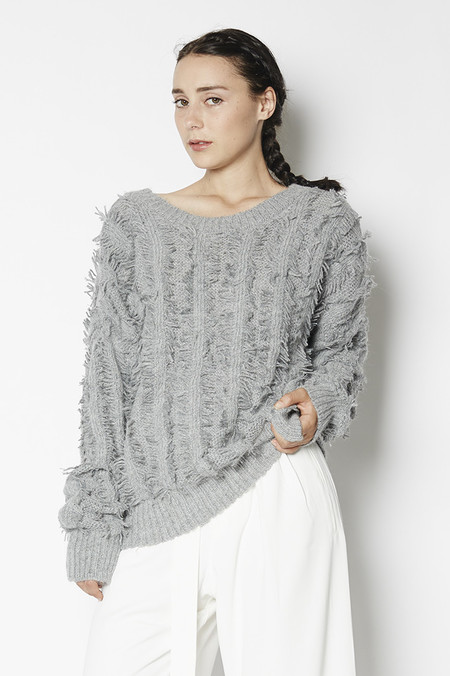 J.O.A. Fringe Sweater