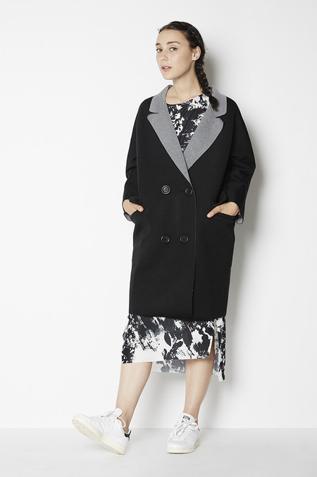 Blq Basiq Oversized Cotton Coat