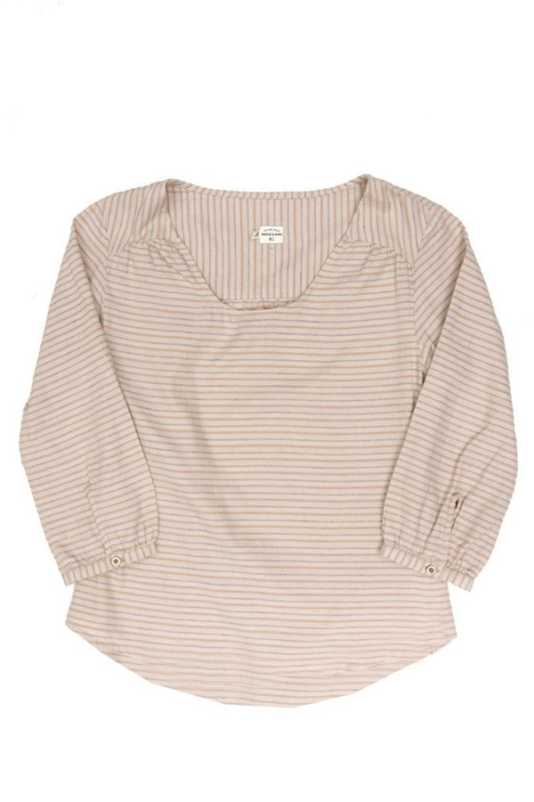 Bridge & Burn Linn Natural Stripe Top