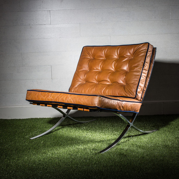 1970s Barcelona Chair, Mies Van der rohe Style
