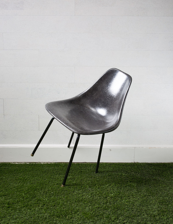 Rider For Life Mid-Century Molded Plastic Chair