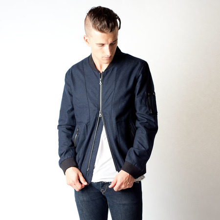 Men's Wolf & Man Pantheon Bomber Jacket