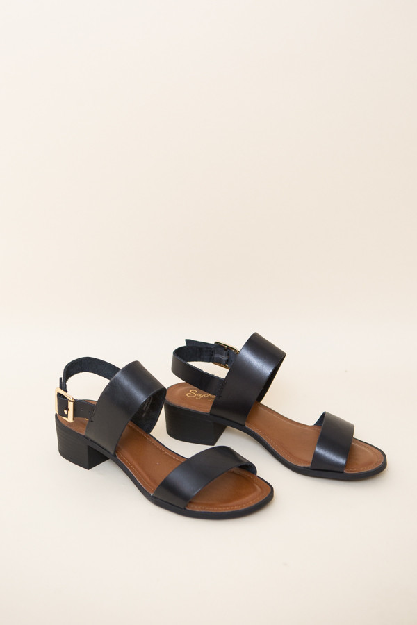 Seychelles Cassiopeia Sandal / Black Leather