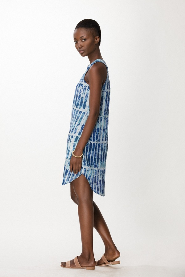Osei-Duro Runa Dress in Marine Chalk