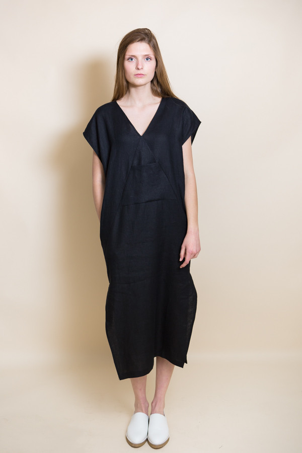 Ursa Minor Kathe Dress / Black Linen
