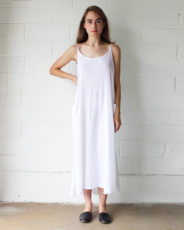 Esby LYLA SLIP DRESS - WHITE
